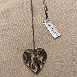 Judith Jack Heart Shaped Necklace